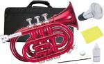 Kaerntner ( ケルントナー ) KTR33P ポケットトランペット 赤色 MRD 新品 管楽器 ミニトランペット レッド ミニ トランペット KTR-33P メタリックレッド ミュート セット D