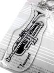 管楽器 クリアキーホルダー トランペット 日本製 アクセサリー 吹奏楽 楽器 ブラスバンド キーホルダー Trumpet keyring 透明 プレート KH60TR