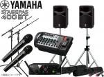 YAMAHA ( ヤマハ ) STAGEPAS400BT AKGワイヤレスマイク2本とマイクスタンド2本 スピーカースタンド セット (K306S/ペア) ◆ PAセット