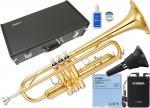 YAMAHA ( ヤマハ ) YTR-2330 トランペット サイレントブラス SB7X 新品 正規品 初心者 管楽器 管体 ゴールド B♭ 本体 ミュート スタンダード 【 YTR2330 セット J】