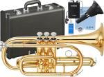 YAMAHA ( ヤマハ ) 送料無料 コルネット サイレントブラス セット YCR-2330lll 新品 ゴールド 管体 日本製 楽器 B♭ 本体 管楽器 イエローブラス 【 YCR-2330-3 SB7X 】