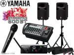 YAMAHA ( ヤマハ ) STAGEPAS600BT AKGワイヤレスマイク1本とスピーカースタンド セット  (K306B/ペア)