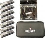 HOHNER ( ホーナー ) ブルースハーモニカ 7本 ケース ハーモニカホルダー 10穴 樹脂ボディ ブルースハープ C調 D調 E調 F調 G調 A調 B♭ 【 ブルースバンドセット ホルダー】