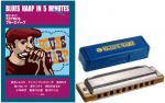 HOHNER ( ホーナー ) ブルースハープ & ハーモニカ 教本 セット 初心者 Blues Harp MSシリーズ C調 楽器 ブルースハーモニカ ハープ  【 532/20 5分で吹ける 】