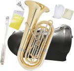 PRESON ( プレソン ) PRB-103 チューバ B♭ 4ピストン フロントアクション 3/4サイズ 管楽器 管体 ゴールド イエローブラス ピストンチューバ 小型 PRB103