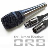 ORB ( オーブ ) CF-3 W MC FHB 3m ◆ ダイナミックマイク for ヒューマンビートボックス ケーブル3m付属