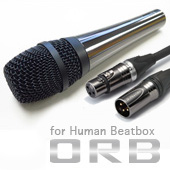 ORB ( オーブ ) CF-3 W MC FHB 5m ◆ ダイナミックマイク for ヒューマンビートボックス ケーブル5m付属