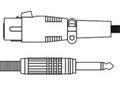 CANARE ( カナレ ) PC05 黒 ◆ 音声 マイクケーブル ・5m  XLR3(メス)・モノラルフォン(オス)