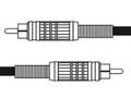 CANARE ( カナレ ) RC05 黒 ◆ オーディオケーブル ・5m  RCA(オス)・RCA(オス)