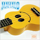 MAHALO ( マハロ ) U-SMILE ◆ かわいいスマイルが魅力のウクレレ![ イエロー ] UKULELE U/SMILE