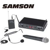 SAMSON ( サムソン ) ESWC288ALLJ-B ◆ ハンドヘルド ラベリア ヘッドセット マイクロフォン デュアルワイヤレスシステム for ボーカル スピーチ